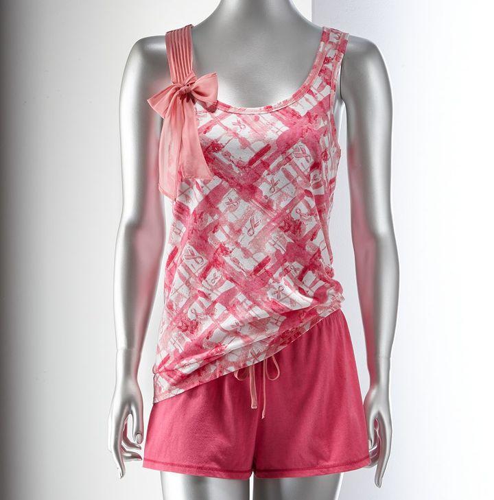 Vera Wang Kohl's cares ® simply vera printed tank & shorts pajama set