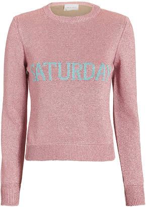 Alberta Ferretti Saturday Lurex Pink Sweater