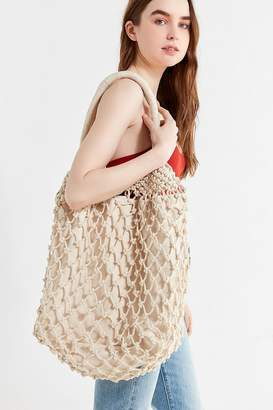 Urban Outfitters Macrame Slouchy Tote Bag