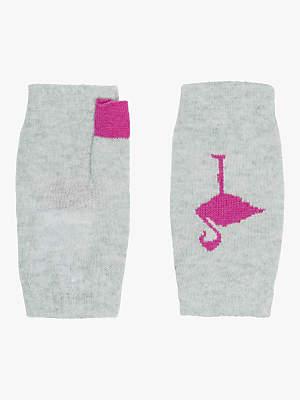 Brora Cashmere Flamingo Wristwarmers, Pearl
