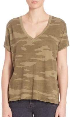 Current/Elliott The V-Neck Camo Tee