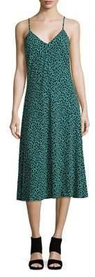 MICHAEL Michael Kors Leopard Printed Midi Dress