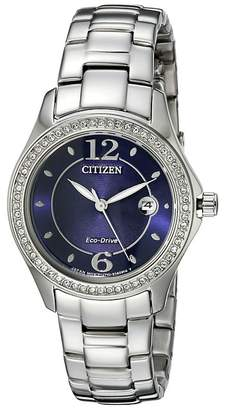 Citizen FE1140-86L Eco-Drive Silhouette Crystal Watches