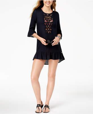 Roxy Crochet Bell-Sleeve Cover-Up Women's Swimsuit