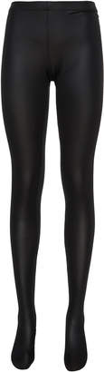 Versace High-Rise Duchess Satin Leggings