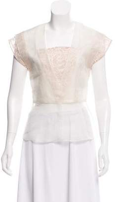 Prabal Gurung Sheer Sleeveless Top