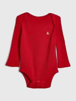 Gap Waffle-Knit Long Sleeve Bodysuit