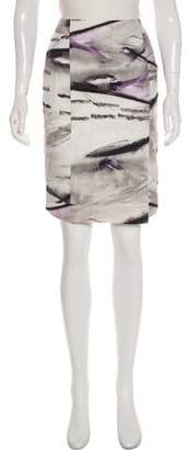 Max Mara Watercolor Seersucker Skirt