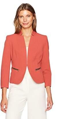 Nine West Women's Kiss Front Bi Stretch Jacket with Zip Pockets