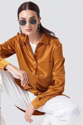 NA-KD Na Kd Satin Oversized Shirt