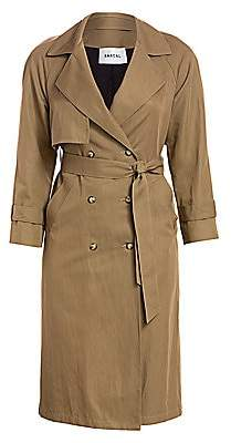 Baacal, Plus Size Women's Classic Cotton Twill Trench Coat