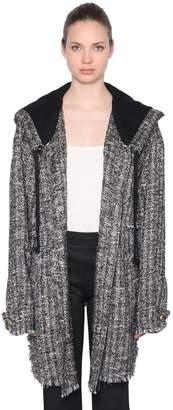 Faith Connexion Hooded Tweed Coat