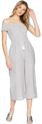 1 STATE 1.STATE Off Shoulder Smocked Bodice Jumpsuit Women's Jumpsuit & Rompers One Piece