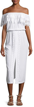 La Blanca Costa Brava Off-the-Shoulder Midi Dress $119 thestylecure.com