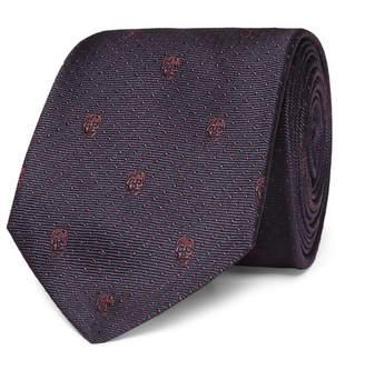Alexander McQueen 7cm Skull-Jacquard Silk-Twill Tie