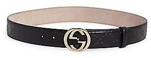 Gucci Women's Adjustable Logo Leather Belt