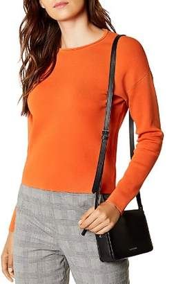 Karen Millen Zip-Back Cropped Sweater