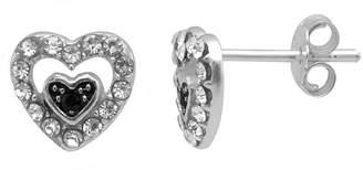 ITSY BITSY Itsy Bitsy Itsy Bitsy Multi Color Sterling Silver 8.4mm Heart Stud Earrings