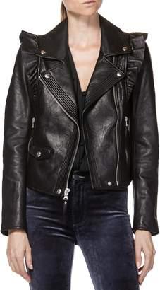 Paige Annika Leather Moto Jacket
