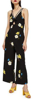 Topshop PETITE Floral Print Jumpsuit