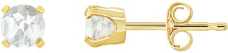 Choice of Birthstone 4mm Round Stud Earrings, 14K Yellow Gold