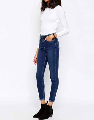 ASOS Ridley High Waist Skinny Jeans In Botanic Dark Stonewash $43 thestylecure.com
