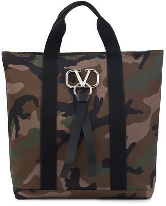 Valentino Garavani VLTN camouflage tote bag