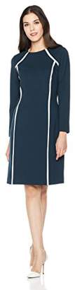 Savoir Faire Dresses Women's Long Sleeve Roma Dress with Contrast Piping 6