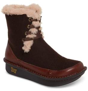 Alegria Twisp Lace-Up Boot with Faux Fur Lining