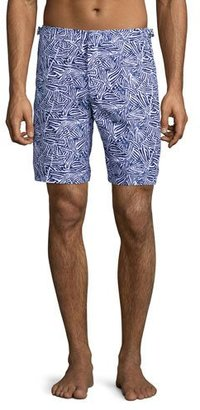 Orlebar Brown Dane Mato Grosso Printed Swim Trunks, Navy $275 thestylecure.com