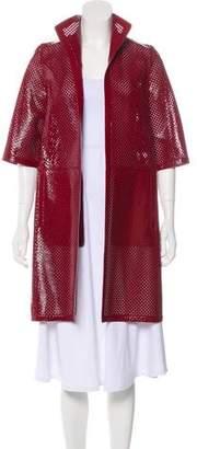 Marni Leather Laser Cut Coat