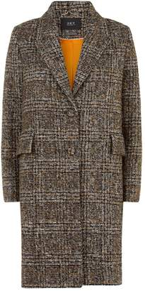 SET Tweed Check Coat