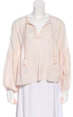 Ulla Johnson Sheer Long Sleeve Top
