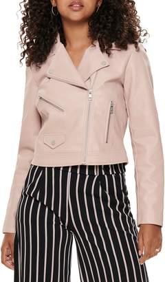 Only Enya Faux Leather Biker Jacket