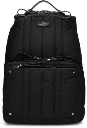 Valentino Black Garavani Nylon Backpack