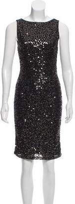 Alice + Olivia Sleeveless Sequin Knee-Length Dress w/ Tags