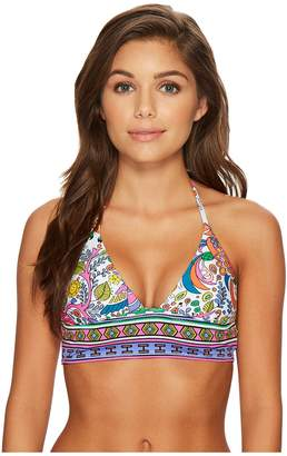 Trina Turk Jungle Beach Crop Tri Bikini Top Women's Swimwear