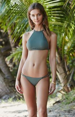 La Hearts Strappy Back High Neck Bikini Top
