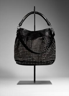 Studded Leather Hobo Bag