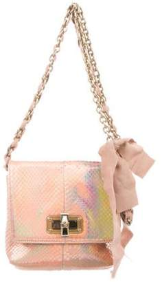 Lanvin Happy Holographic Python Shoulder Bag Pink Happy Holographic Python Shoulder Bag