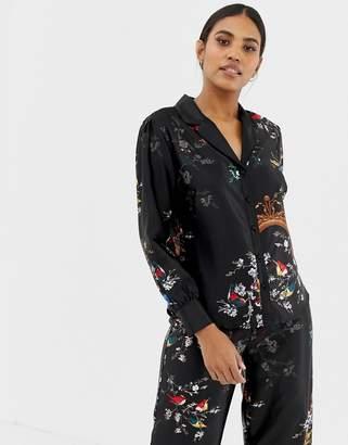 Ted Baker Opulent Fauna Revere Pajama Top