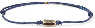 Luis Morais Cord, 14-Karat Gold and Enamel Bracelet - Men - Blue
