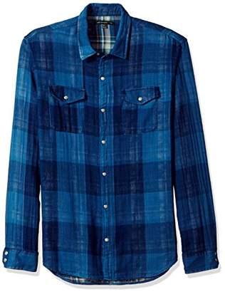 John Varvatos Men's Western Shirt with Snap Chest Pocket