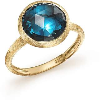 Marco Bicego 18K Yellow Gold Jaipur Blue Topaz Ring