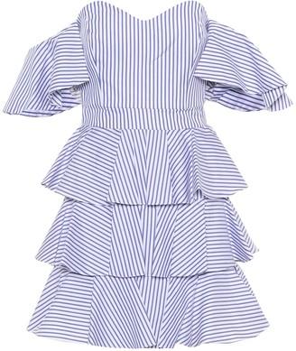 Caroline Constas Irene striped off-the-shoulder dress