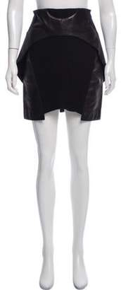Neil Barrett Wool A-Line Skirt Black Wool A-Line Skirt