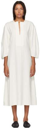 Totême White Voluminous Marais Dress