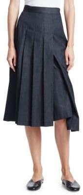 Junya Watanabe Denim Pleated Skirt Pants