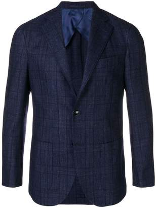 Barba checked blazer