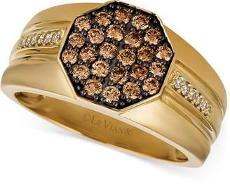 LeVian Le Vian Gents Men's Diamond Cluster Ring (3/4 ct. t.w.) in 14k Gold
